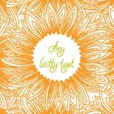 Рамка границы с контуром лепестков солнцецвета иллюстрация штока