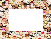 Рамка границы людей толпы бесплатная иллюстрация