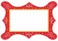 рамка декоративных элементов флористическая Стоковые Изображения RF