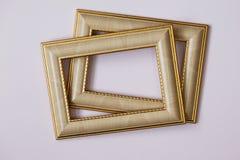 Рамка для фото, картин, акварелей, чертежей на светлой предпосылке стоковое изображение rf