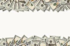 Рамка 100 долларов банкнот Стоковая Фотография RF
