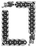 Рамка драконов вектора иллюстрация штока