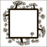 рамка декоративных элементов флористическая Стоковые Изображения