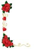Рамка ленты с розами Стоковое Изображение RF