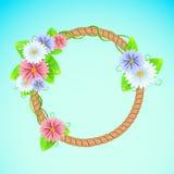 Рамка лета или весны с цветками Стоковые Изображения RF