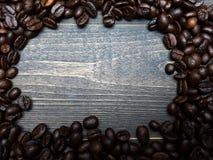 рамка еды кофе фасолей обрамляет серию Стоковые Фотографии RF