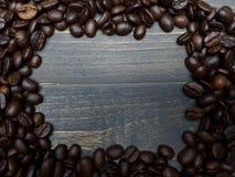 рамка еды кофе фасолей обрамляет серию Стоковое Фото