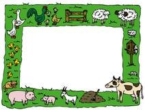 рамка животной фермы иллюстрация штока