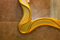 Рамка зеркала ванной комнаты Стоковое Изображение