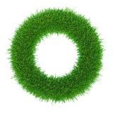Рамка зеленой травы с кругом экземпляр-космоса Стоковое Изображение RF