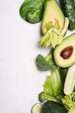 Рамка зеленых овощей Стоковые Изображения RF