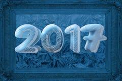 Рамка 2017 зимы Стоковое Изображение