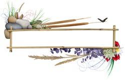 рамка знамени флористическая Стоковое Изображение