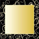 Рамка золота богато украшенный Стоковая Фотография
