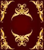 рамка золотистая Стоковое Изображение RF