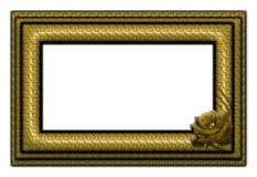 рамка золотистая Стоковые Изображения