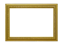 Рамка золота деревянная для картины Стоковые Фото