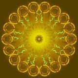 Рамка золота кружевная круглая Стоковая Фотография RF