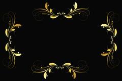 Рамка золота сбора винограда Стоковые Изображения RF