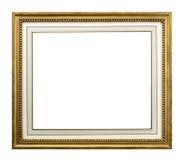 Рамка золота с внутренним держателем с 3 путями клиппирования Стоковые Фотографии RF
