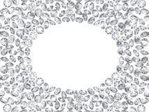 рамка диамантов 3d на белых предпосылках Стоковые Фото