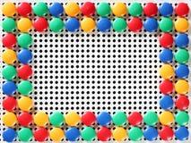 Рамка игрушки мозаики Стоковое фото RF