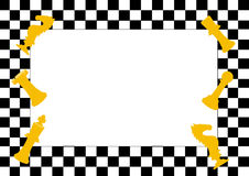 Рамка игры шахматной доски и шахматных фигур, смешной рамки для детей Стоковое Изображение RF