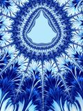 Рамка или граница рождества голубые белые Форма рождественской елки Стоковое Изображение