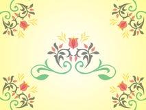 Рамка искусства цветет vecor иллюстрация штока