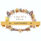 Рамка листьев осени также вектор иллюстрации притяжки corel Стоковые Фото