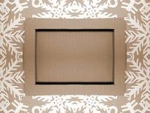 Рамка и снежинки Бумажное вырезывание Стоковое Изображение
