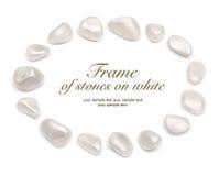 Рамка камней на белизне Стоковая Фотография RF
