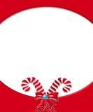 рамка карточки тросточки конфеты 3 Стоковая Фотография RF
