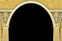 рамка колонки свода классицистическая иллюстрация вектора