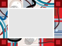 Рамка, конспект, красный цвет, серый Иллюстрация штока