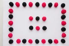Рамка конфеты или студня на белой предпосылке Стоковые Изображения RF