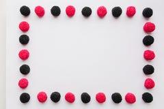 Рамка конфеты или студня на белой предпосылке Стоковая Фотография