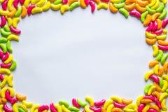 рамка конфеты цветастая Стоковые Фото