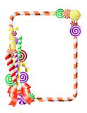 рамка конфет цветастая Стоковое Изображение