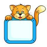 рамка кота иллюстрация вектора