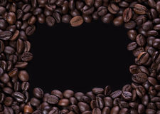 Рамка кофейных зерен стоковые изображения rf