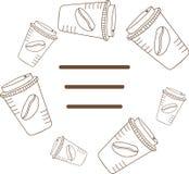 Рамка кофейных чашек Стоковое Изображение RF