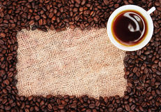 рамка кофе фасоли Стоковые Изображения RF