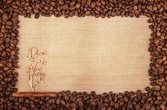 Рамка 4 кофе Стоковые Изображения RF
