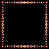 Рамка красных светов иллюстрация штока