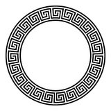 Рамка круга, безшовная disconnected картина меандра иллюстрация штока