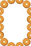 Рамка круглого печенья на белой предпосылке Стоковая Фотография RF
