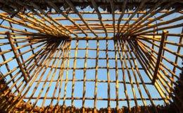 Рамка крыши хаты острова стоковое изображение rf