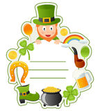 Рамка крышки книги St. Patrick s Стоковое фото RF