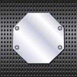 Рамка металла на решетке Стоковые Фото